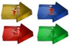 3d man speech speaker icon Stock Photos