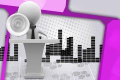 3d man speech speaker  illustration Stock Images