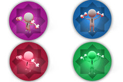 3d man sport man icon Stock Images