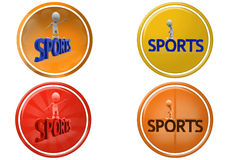 3d man sports icon Stock Image