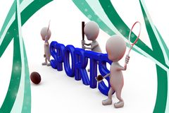 3d man sports illustration Stock Photo