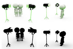 3d man spot light Concept Collections With Alpha And Shadow Channel Stock Photography
