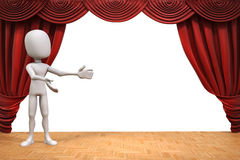 3d man on stage Royalty Free Stock Photo