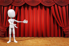 3d man on stage Royalty Free Stock Photos