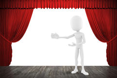 3d man on stage Stock Photo