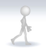 3d man with a stairs Royalty Free Stock Photo