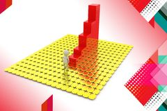 3d man stairs of success illustration Stock Photography
