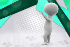 3d man stand stop  illustration Royalty Free Stock Photo
