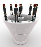 3d man standing on big white speaker concept Royalty Free Stock Images