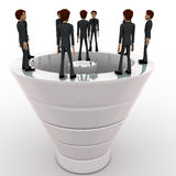 3d man standing on big white speaker concept Royalty Free Stock Image