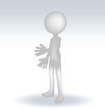 3d man standing hands open Royalty Free Stock Photo