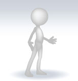 3d man standing hands open Royalty Free Stock Image