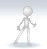 3d man standing hands open Stock Photography