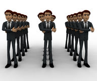 3d man standing in queue concept Stock Photo