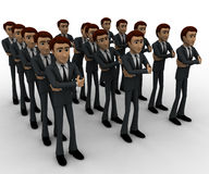 3d man standing in queue concept Royalty Free Stock Photos