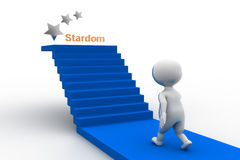 3d man stardom concept Royalty Free Stock Photography