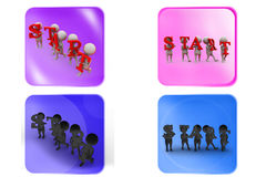 3d man start icon Stock Photography