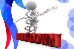 3d man stock down  illustration Stock Images