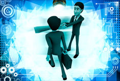 3d man stopping another man from going illustration Stock Photo