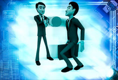 3d man stopping another man from going illustration Royalty Free Stock Image