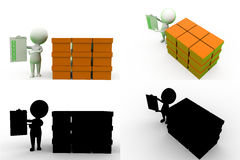 3d man storage Concept Collections With Alpha And Shadow Channel Stock Photography