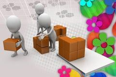 3d man storage illustration Stock Photo