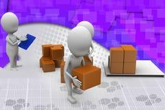3d man storage illustration Royalty Free Stock Photos
