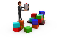 3d man storage list concept Royalty Free Stock Images