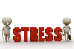 3d man stress concept Royalty Free Stock Photos