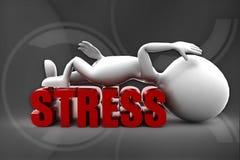 3d man stress illustration Stock Images