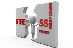 3d man stress wall concept Royalty Free Stock Photo