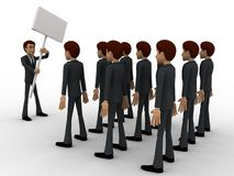 3d man on strike concept Royalty Free Stock Photos