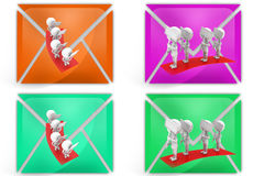 3d man strike icon Stock Photography