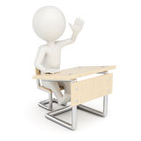 3D man student Royalty Free Stock Image