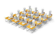 3d man students in classroom Stock Photos