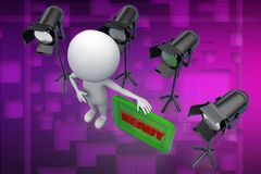3d man studio light ready illustration Royalty Free Stock Image