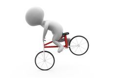 3d man with stunt bike concept Royalty Free Stock Images