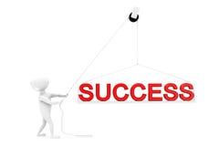 3d man success concept Stock Photos
