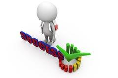 3d man success graph concept Stock Photos