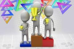 3d man success  illustration Stock Image