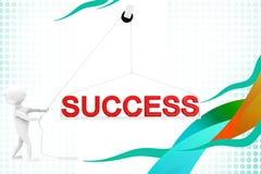 3d man success illustration Stock Photography
