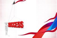 3d man success illustration Royalty Free Stock Photo