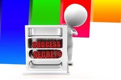 3d Man Success Secrets Illustration Royalty Free Stock Photo