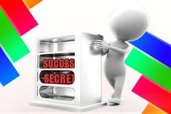 3d Man Success Secrets Illustration Stock Photos