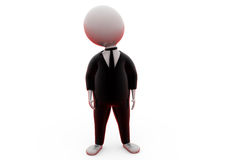 3d man in suit concept Stock Images