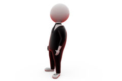 3d man in suit concept Royalty Free Stock Image