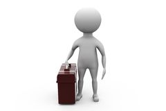 3d man suitcase concept Stock Photo