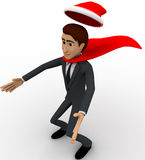 3d man super santa claus concept Royalty Free Stock Photo