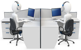 3d man support center Stock Images