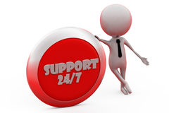 3d man support 24/7 concept Stock Photo